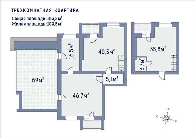Квартира №87, в доме Альфа. Первый взнос 59540 уе!