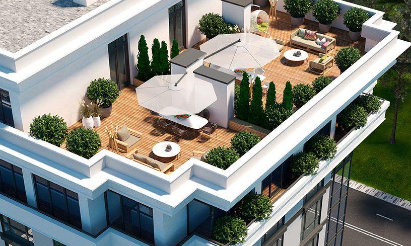 Видовые трехкомнатные квартиры с террасами