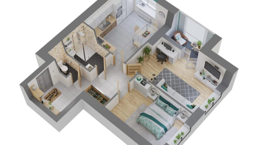 Последние 2-к квартиры в построенном доме